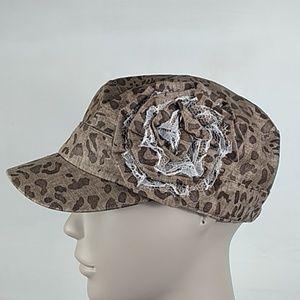 Elastafit D&Y cheetah lace flower hat